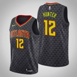 Atlanta Hawks De'Andre Hunter Black Jersey